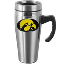 Siskiyou Buckle CHTM52 Iowa Hawkeyes Steel Travel Mug w/Handle