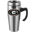 Siskiyou Buckle CHTM5 Georgia Bulldogs Steel Travel Mug w/Handle