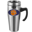 Siskiyou Buckle CHTM69 Clemson Tigers Steel Travel Mug w/Handle
