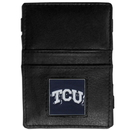 Siskiyou Buckle CJL112 TCU Horned Frogs Leather Jacob's Ladder Wallet