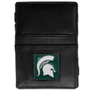 Siskiyou Buckle CJL41 Michigan St. Spartans Leather Jacob's Ladder Wallet