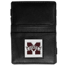 Siskiyou Buckle CJL45 Mississippi St. Bulldogs Leather Jacob's Ladder Wallet