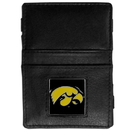 Siskiyou Buckle CJL52 Iowa Hawkeyes Leather Jacob's Ladder Wallet