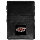 Siskiyou Buckle CJL58 Oklahoma State Cowboys Leather Jacob's Ladder Wallet