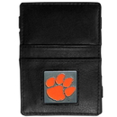 Siskiyou Buckle CJL69 Clemson Tigers Leather Jacob's Ladder Wallet
