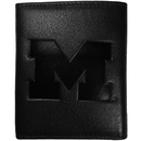 Siskiyou Buckle CLET36 Michigan Wolverines Embossed Leather Tri-fold Wallet