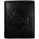 Siskiyou Buckle CLET38 Ohio St. Buckeyes Embossed Leather Tri-fold Wallet