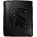 Siskiyou Buckle CLET41 Michigan St. Spartans Embossed Leather Tri-fold Wallet