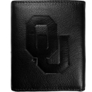 Siskiyou Buckle CLET48 Oklahoma Sooners Embossed Leather Tri-fold Wallet