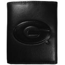Siskiyou Buckle CLET5 Georgia Bulldogs Embossed Leather Tri-fold Wallet