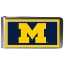 Siskiyou Buckle CLMP36 Michigan Wolverines Steel Logo Money Clips