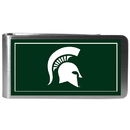 Siskiyou Buckle CLMP41 Michigan St. Spartans Steel Logo Money Clips