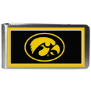 Siskiyou Buckle CLMP52 Iowa Hawkeyes Steel Logo Money Clips
