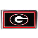 Siskiyou Buckle CLMP5 Georgia Bulldogs Steel Logo Money Clips