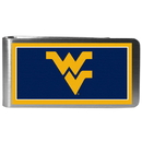 Siskiyou Buckle CLMP60 W. Virginia Mountaineers Steel Logo Money Clips