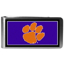 Siskiyou Buckle CLMP69 Clemson Tigers Steel Logo Money Clips