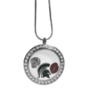 Siskiyou Buckle CLOC41 Michigan St. Spartans Locket Necklace