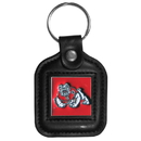 Siskiyou Buckle CLS100 Fresno St. Bulldogs Square Leather Key Chain