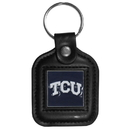 Siskiyou Buckle CLS112 TCU Horned Frogs Square Leather Key Chain
