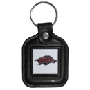 Siskiyou Buckle CLS12 Arkansas Razorbacks Square Leather Key Chain