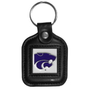 Siskiyou Buckle CLS15 Kansas St. Wildcats Square Leather Key Chain