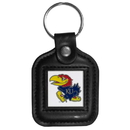 Siskiyou Buckle CLS21 Kansas Jayhawks Square Leather Key Chain