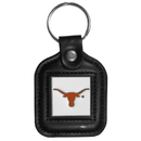 Siskiyou Buckle CLS22 Texas Longhorns Square Leather Key Chain
