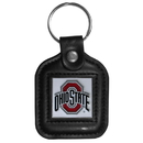 Siskiyou Buckle CLS38 Ohio St. Buckeyes Square Leather Key Chain