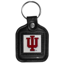 Siskiyou Buckle CLS39 Indiana Hoosiers Square Leather Key Chain