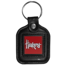 Siskiyou Buckle CLS3 Nebraska Cornhuskers Square Leather Key Chain