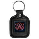 Siskiyou Buckle CLS42 Auburn Tigers Square Leather Key Chain