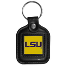 Siskiyou Buckle CLS43 LSU Tigers Square Leather Key Chain