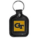 Siskiyou Buckle CLS44 Georgia Tech Yellow Jackets Square Leather Key Chain