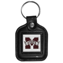 Siskiyou Buckle CLS45 Mississippi St. Bulldogs Square Leather Key Chain