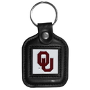 Siskiyou Buckle CLS48 Oklahoma Sooners Square Leather Key Chain