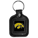 Siskiyou Buckle CLS52 Iowa Hawkeyes Square Leather Key Chain
