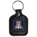Siskiyou Buckle CLS54 Arizona Wildcats Square Leather Key Chain