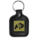 Siskiyou Buckle CLS57 Colorado Buffaloes Square Leather Key Chain