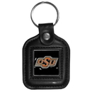 Siskiyou Buckle CLS58 Oklahoma State Cowboys Square Leather Key Chain