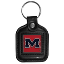 Siskiyou Buckle CLS59 Mississippi Rebels Square Leather Key Chain