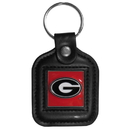 Siskiyou Buckle CLS5 Georgia Bulldogs Square Leather Key Chain