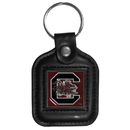 Siskiyou Buckle CLS63 S. Carolina Gamecocks Square Leather Key Chain