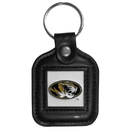 Siskiyou Buckle CLS67 Missouri Tigers Square Leather Key Chain