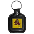 Siskiyou Buckle CLS68 Arizona St. Sun Devils Square Leather Key Chain