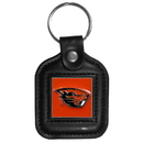 Siskiyou Buckle CLS72 Oregon St. Beavers Square Leather Key Chain