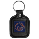 Siskiyou Buckle CLS73 Boise St. Broncos Square Leather Key Chain