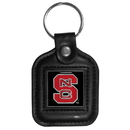 Siskiyou Buckle CLS79 N. Carolina St. Wolfpack Square Leather Key Chain