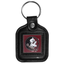 Siskiyou Buckle CLS7 Florida St. Seminoles Square Leather Key Chain