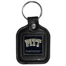 Siskiyou Buckle CLS82 PITT Panthers Square Leather Key Chain