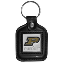 Siskiyou Buckle CLS84 Purdue Boilermakers Square Leather Key Chain